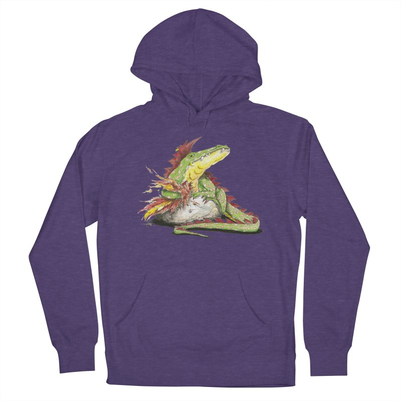 Lizard King, Chicken for Lunch Women's French Terry Pullover Hoody by mybadart's Artist Shop
