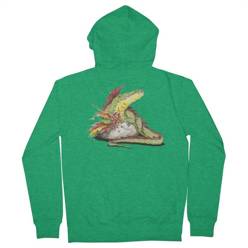 Lizard King, Chicken for Lunch Women's Zip-Up Hoody by mybadart's Artist Shop