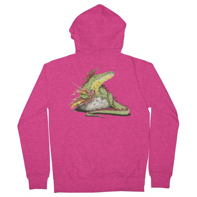 Lizard King, Chicken for Lunch Women's French Terry Zip-Up Hoody by mybadart's Artist Shop