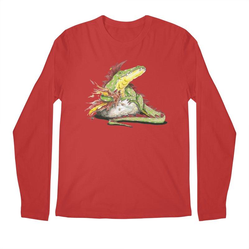 Lizard King, Chicken for Lunch Men's Regular Longsleeve T-Shirt by mybadart's Artist Shop