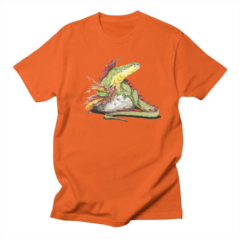 Lizard King, Chicken for Lunch Women's Regular Unisex T-Shirt by mybadart's Artist Shop