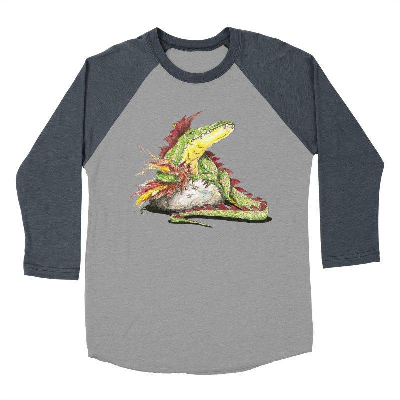 Lizard King, Chicken for Lunch Women's Baseball Triblend Longsleeve T-Shirt by mybadart's Artist Shop