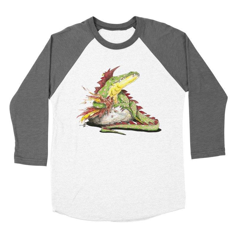 Lizard King, Chicken for Lunch Men's Baseball Triblend Longsleeve T-Shirt by mybadart's Artist Shop