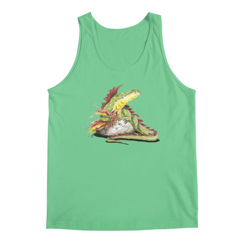 Lizard King, Chicken for Lunch Men's Regular Tank by mybadart's Artist Shop
