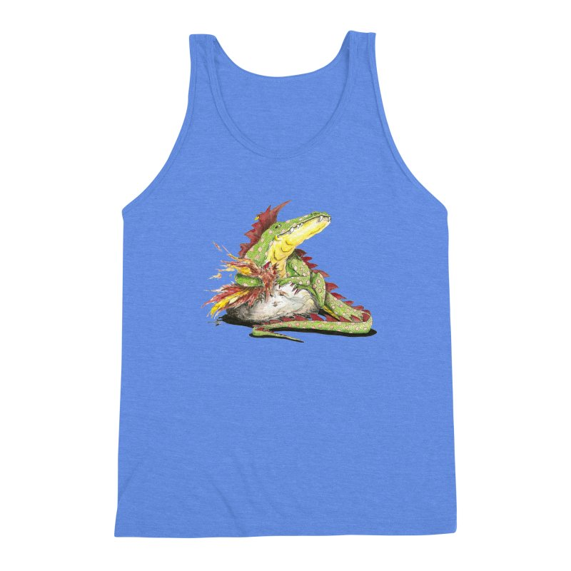 Lizard King, Chicken for Lunch Men's Triblend Tank by mybadart's Artist Shop