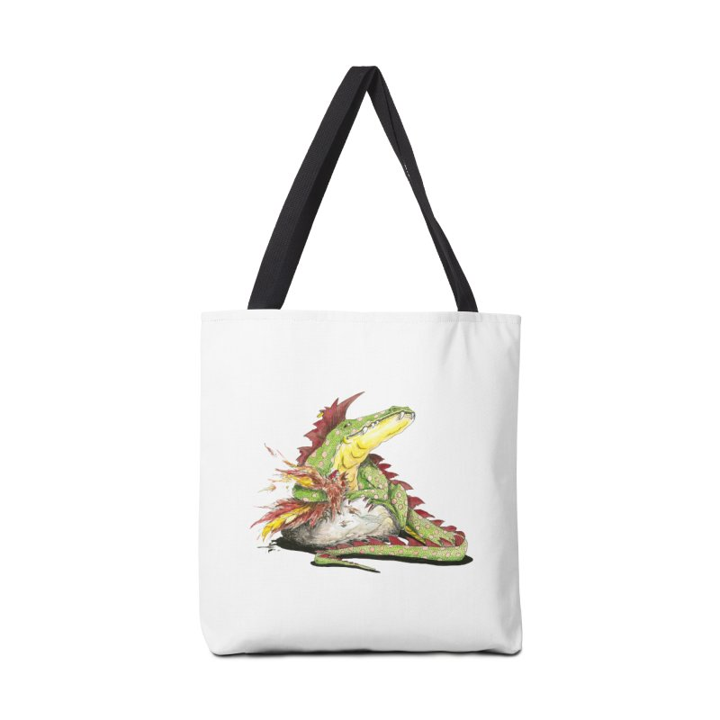 Lizard King, Chicken for Lunch Accessories Bag by mybadart's Artist Shop