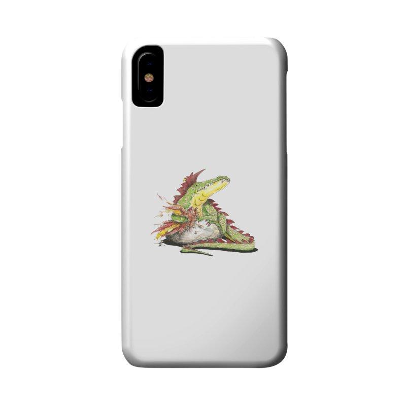Lizard King, Chicken for Lunch Accessories Phone Case by mybadart's Artist Shop