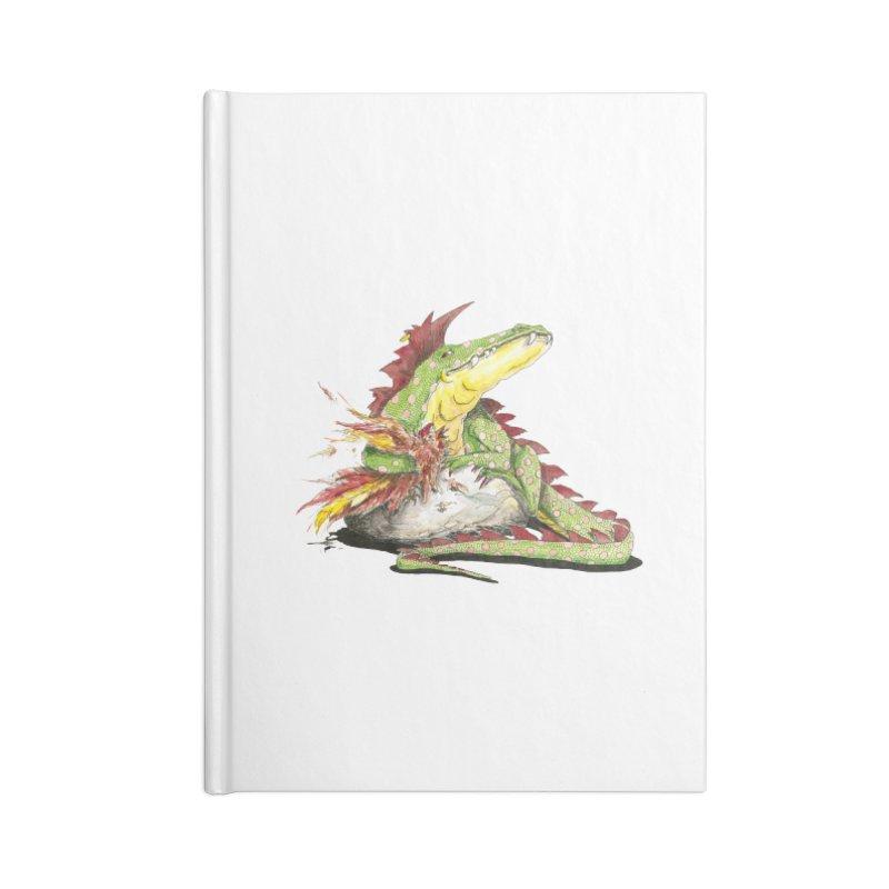 Lizard King, Chicken for Lunch Accessories Notebook by mybadart's Artist Shop