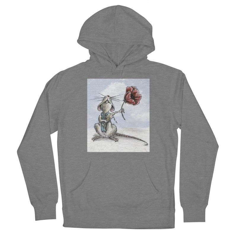 Rat and Poppy - have a flower Women's Pullover Hoody by mybadart's Artist Shop