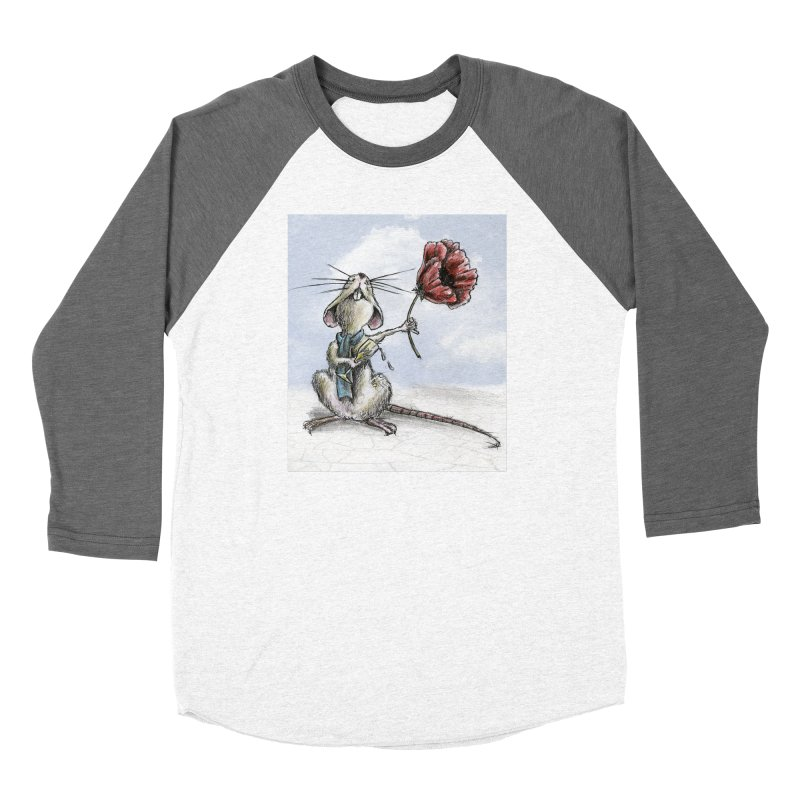 Rat and Poppy - have a flower Women's Longsleeve T-Shirt by mybadart's Artist Shop