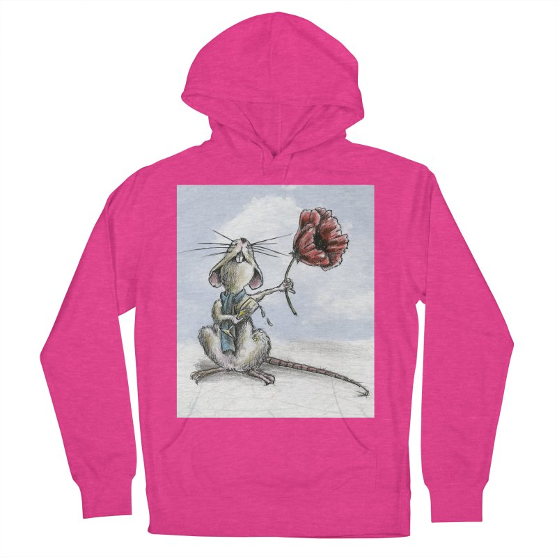 Rat and Poppy - have a flower Women's French Terry Pullover Hoody by mybadart's Artist Shop