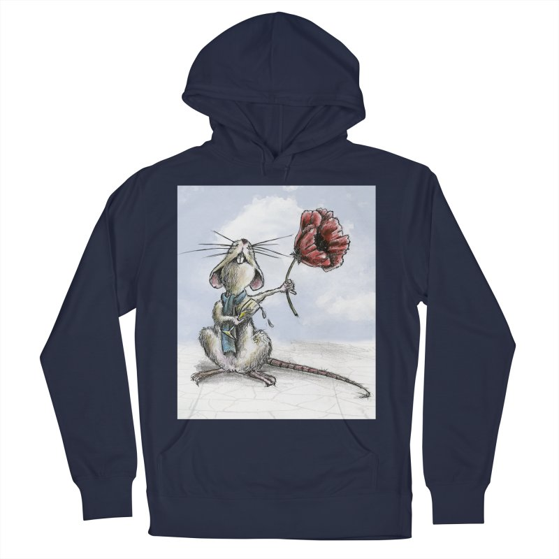 Rat and Poppy - have a flower Men's French Terry Pullover Hoody by mybadart's Artist Shop