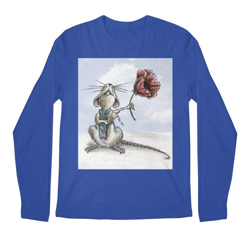 Rat and Poppy - have a flower Men's Regular Longsleeve T-Shirt by mybadart's Artist Shop