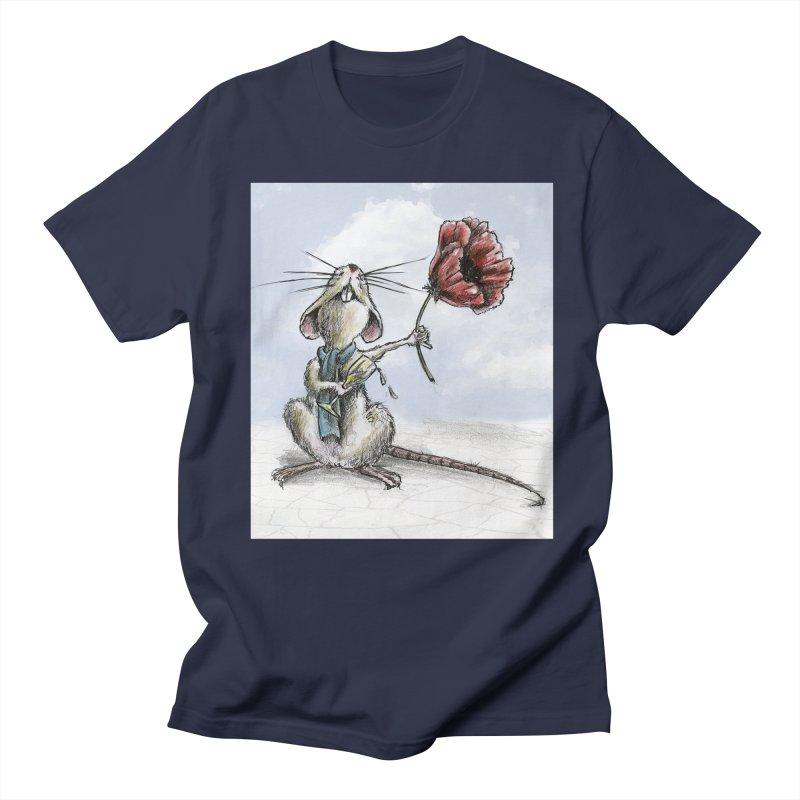 Rat and Poppy - have a flower Women's Regular Unisex T-Shirt by mybadart's Artist Shop