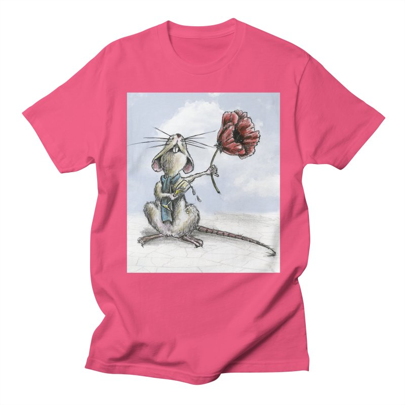Rat and Poppy - have a flower Women's Regular Unisex T-Shirt by mybadart's Artist Shop