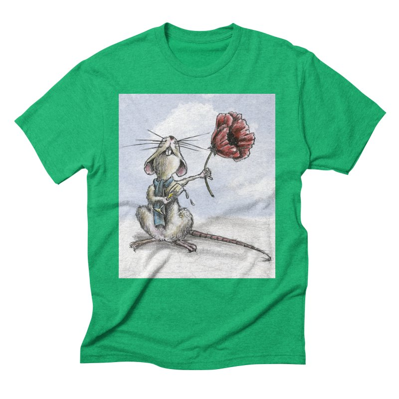 Rat and Poppy - have a flower Men's Triblend T-Shirt by mybadart's Artist Shop