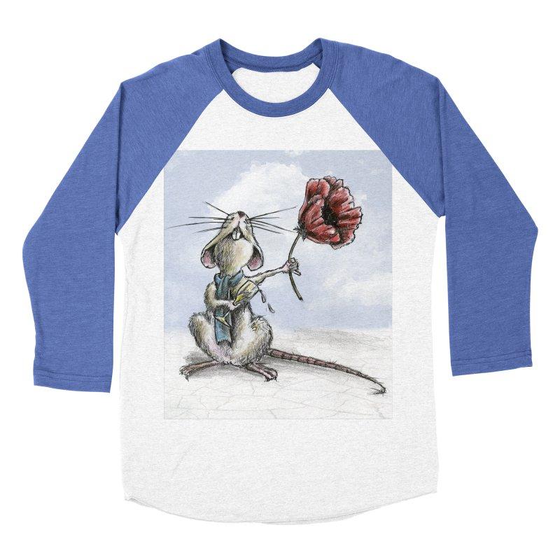 Rat and Poppy - have a flower Women's Baseball Triblend Longsleeve T-Shirt by mybadart's Artist Shop
