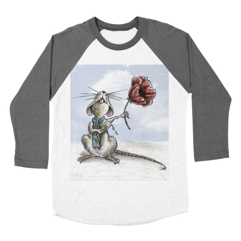 Rat and Poppy - have a flower Women's Baseball Triblend Longsleeve T-Shirt by mybadart's Artist Shop