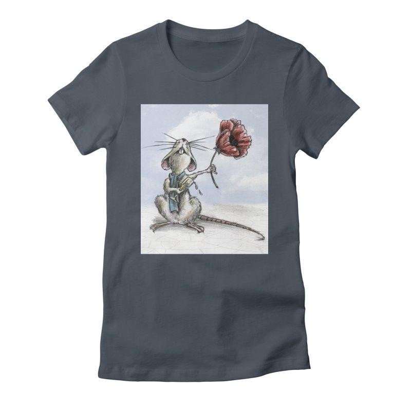 Rat and Poppy - have a flower Women's T-Shirt by mybadart's Artist Shop