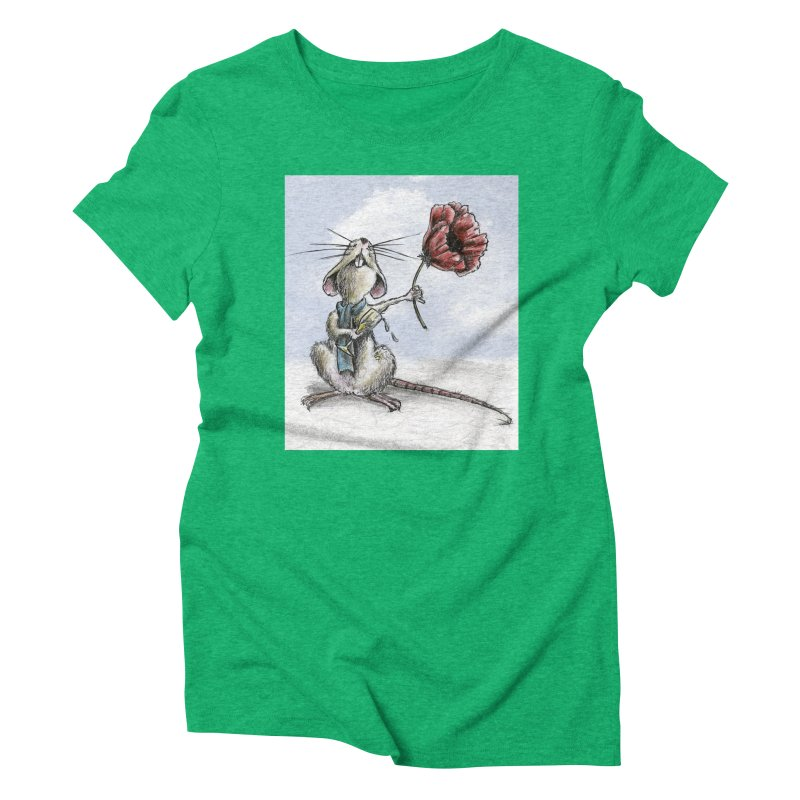 Rat and Poppy - have a flower Women's T-Shirt by mybadart's Artist Shop