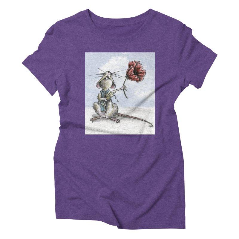 Rat and Poppy - have a flower Women's Triblend T-Shirt by mybadart's Artist Shop