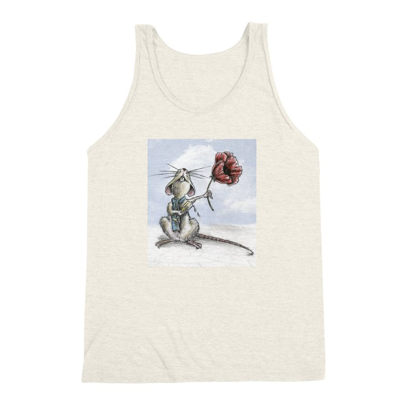 Rat and Poppy - have a flower Men's Triblend Tank by mybadart's Artist Shop