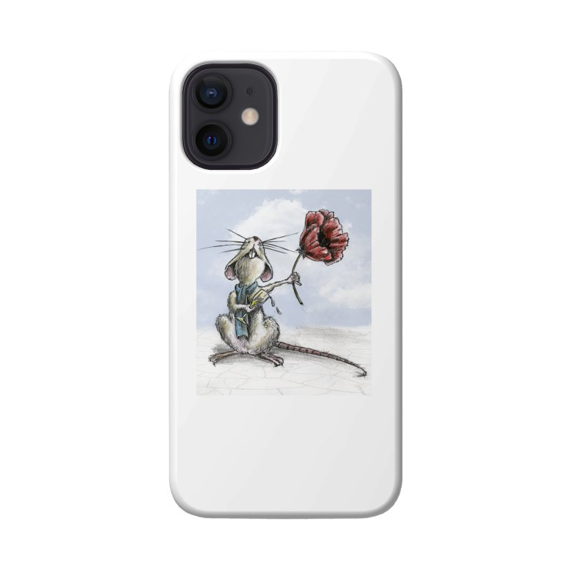 Rat and Poppy - have a flower Accessories Phone Case by mybadart's Artist Shop