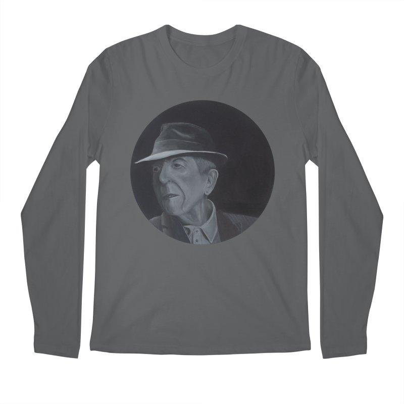 Leonard Cohen Men's Regular Longsleeve T-Shirt by mybadart's Artist Shop
