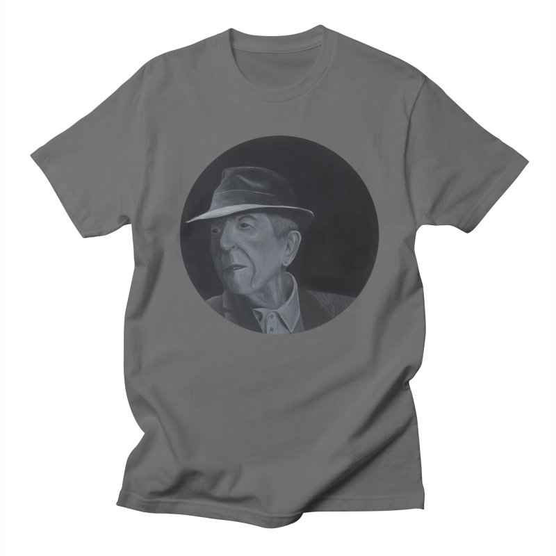 Leonard Cohen Men's T-Shirt by mybadart's Artist Shop