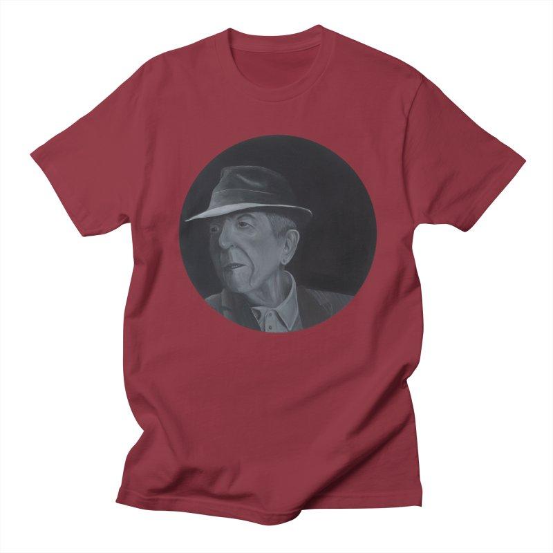 Leonard Cohen Women's Regular Unisex T-Shirt by mybadart's Artist Shop