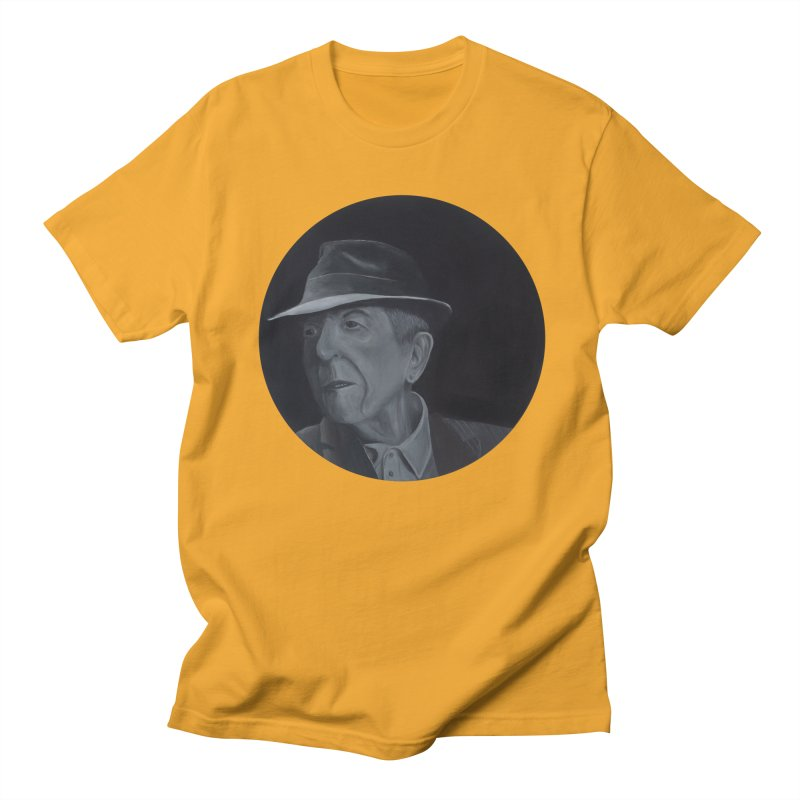 Leonard Cohen Women's Regular Unisex T-Shirt by mybadart's Artist Shop