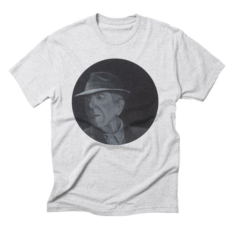 Leonard Cohen Men's Triblend T-Shirt by mybadart's Artist Shop