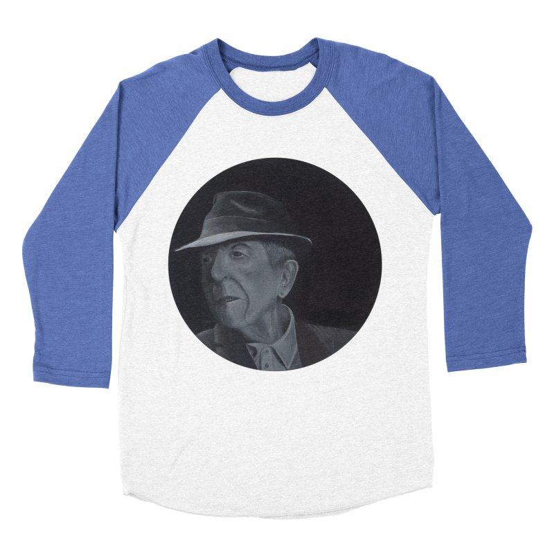 Leonard Cohen Women's Baseball Triblend Longsleeve T-Shirt by mybadart's Artist Shop