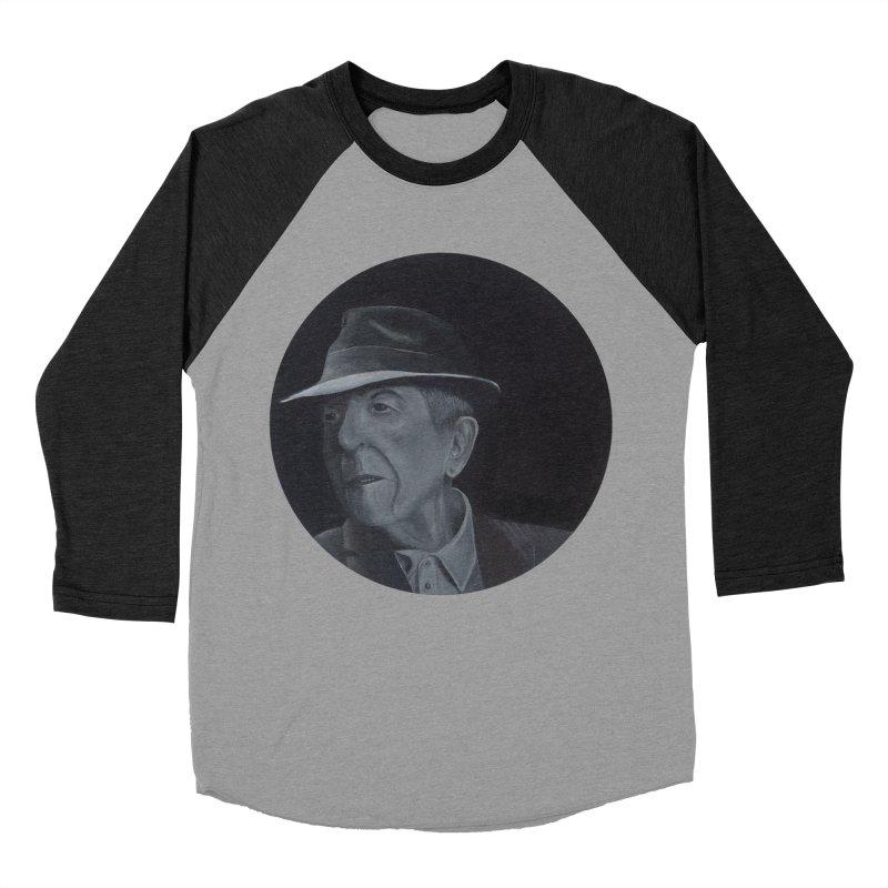 Leonard Cohen Men's Baseball Triblend Longsleeve T-Shirt by mybadart's Artist Shop