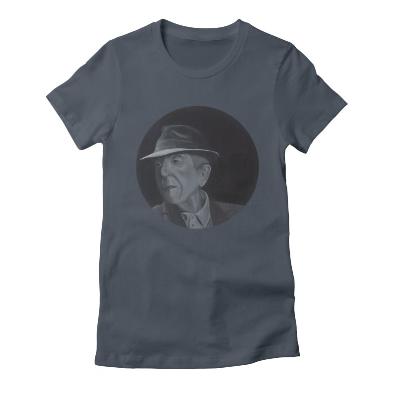 Leonard Cohen Women's T-Shirt by mybadart's Artist Shop
