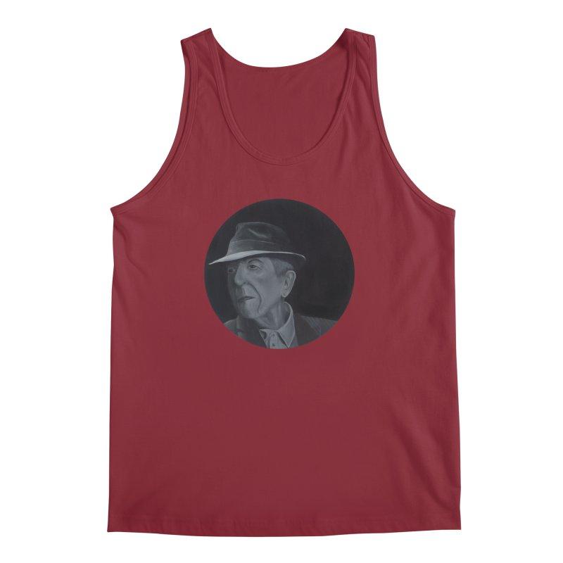 Leonard Cohen Men's Regular Tank by mybadart's Artist Shop