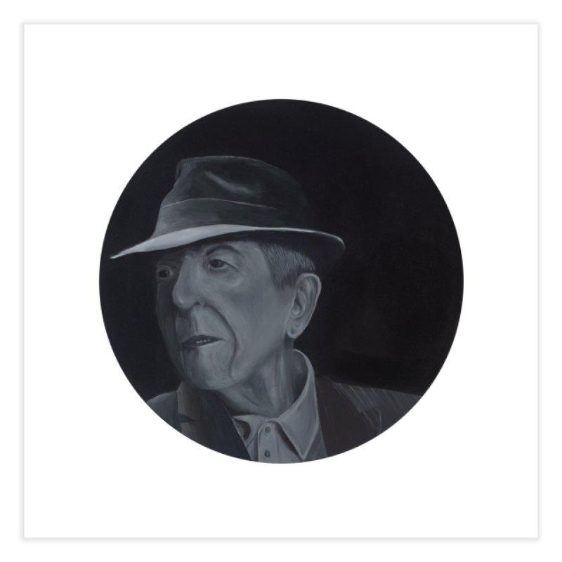 Leonard Cohen Home Fine Art Print by mybadart's Artist Shop