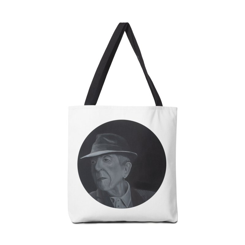 Leonard Cohen Accessories Tote Bag Bag by mybadart's Artist Shop