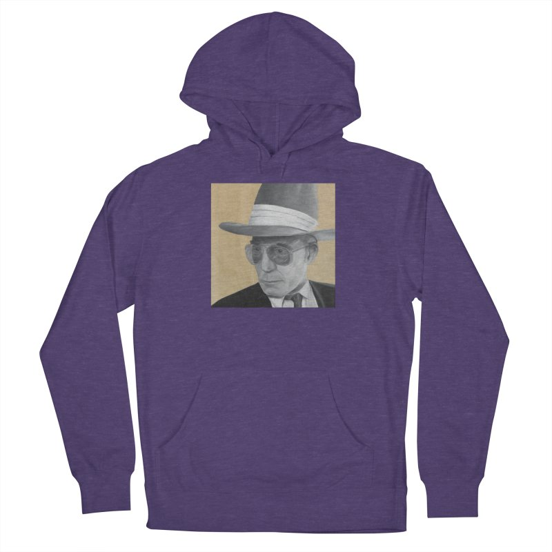 Hunter S. Thompson Women's French Terry Pullover Hoody by mybadart's Artist Shop