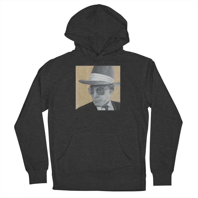 Hunter S. Thompson Men's French Terry Pullover Hoody by mybadart's Artist Shop