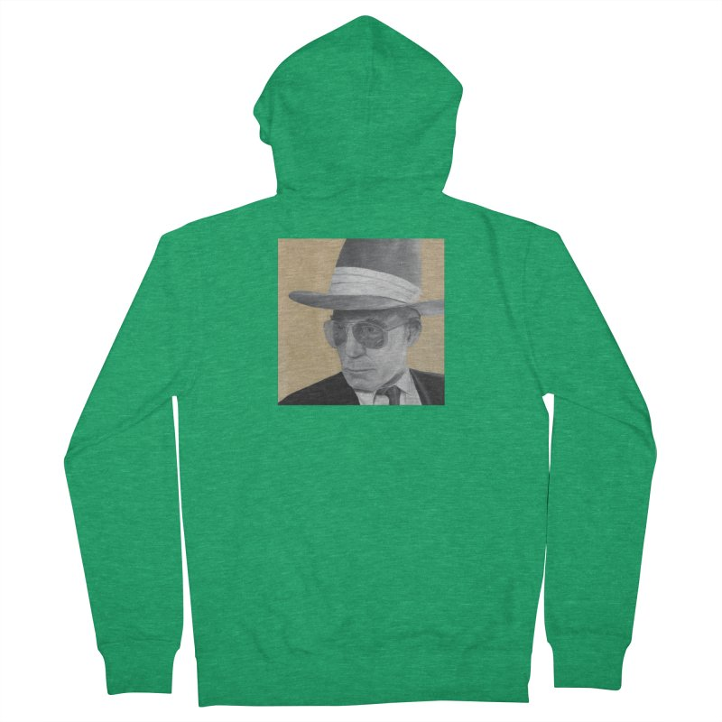 Hunter S. Thompson Men's Zip-Up Hoody by mybadart's Artist Shop