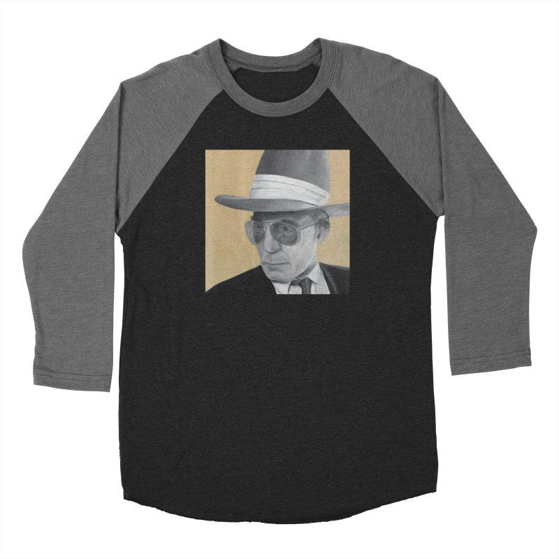 Hunter S. Thompson Men's Baseball Triblend Longsleeve T-Shirt by mybadart's Artist Shop