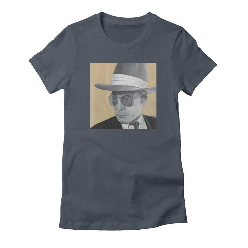 Hunter S. Thompson Women's T-Shirt by mybadart's Artist Shop