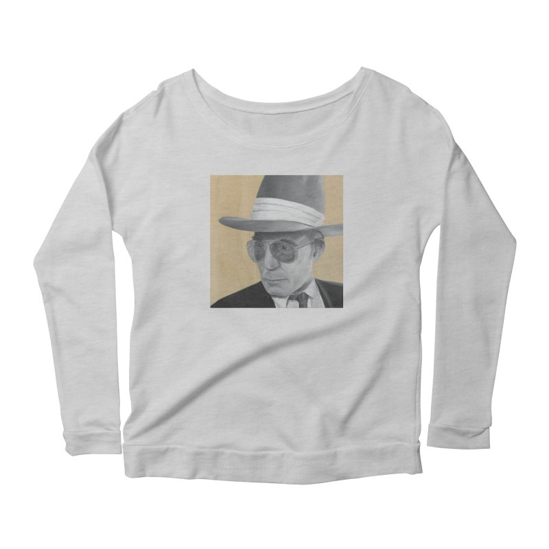 Hunter S. Thompson Women's Scoop Neck Longsleeve T-Shirt by mybadart's Artist Shop