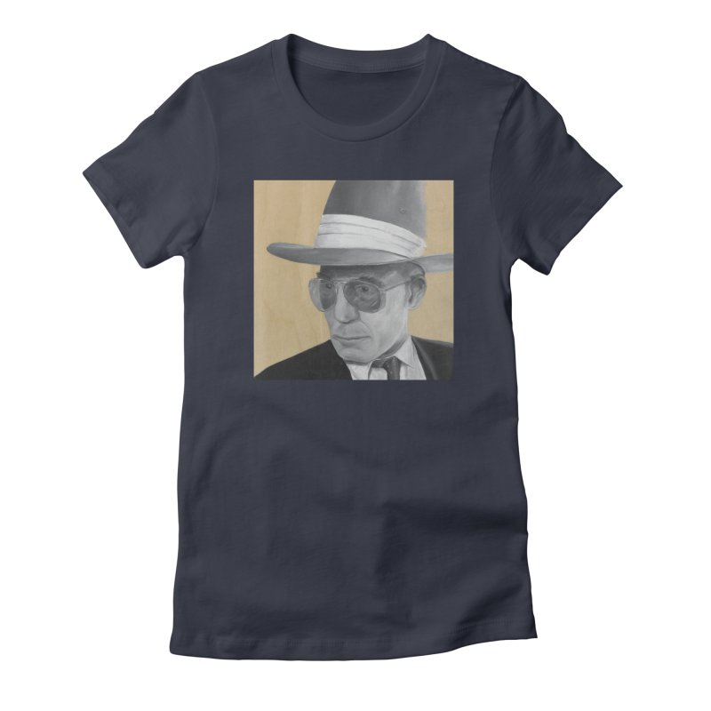 Hunter S. Thompson Women's Fitted T-Shirt by mybadart's Artist Shop
