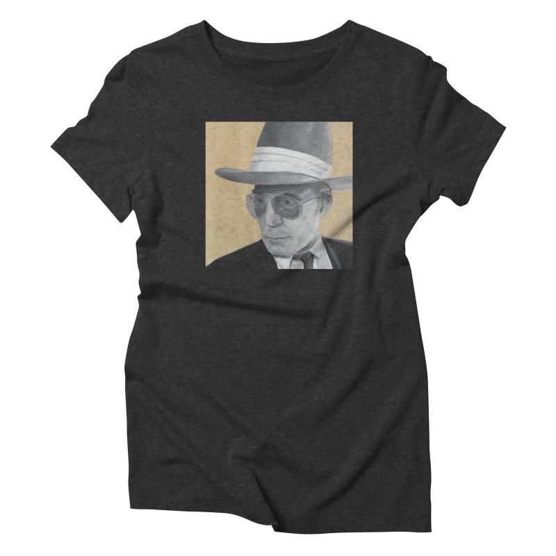 Hunter S. Thompson Women's Triblend T-Shirt by mybadart's Artist Shop