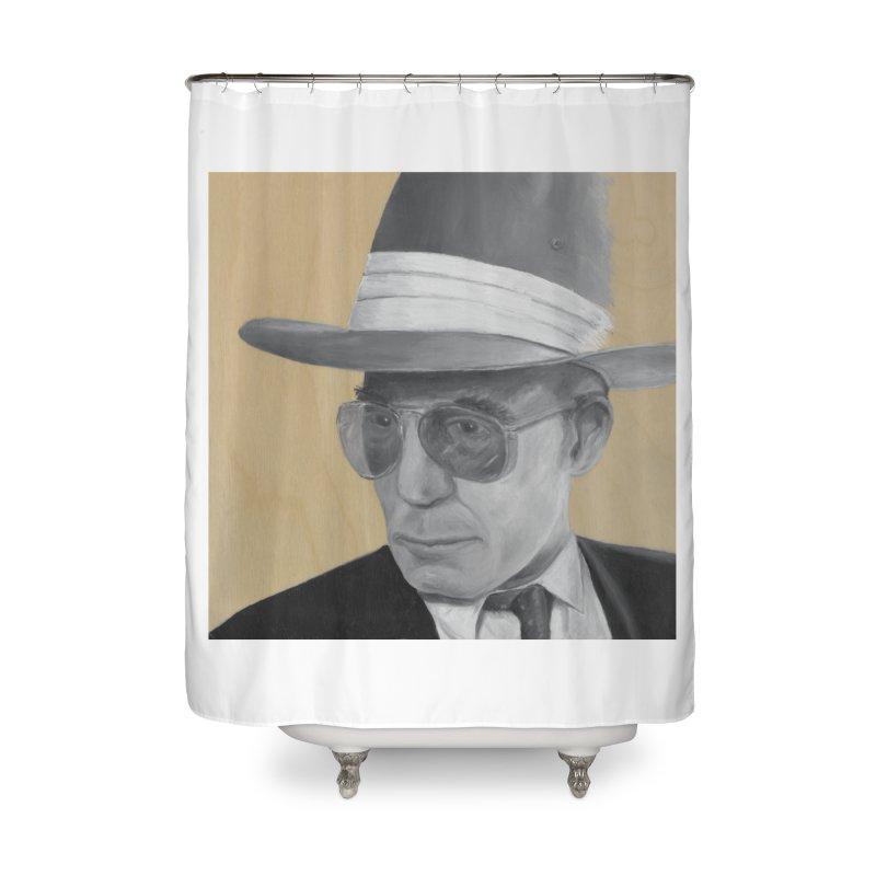 Hunter S. Thompson Home Shower Curtain by mybadart's Artist Shop
