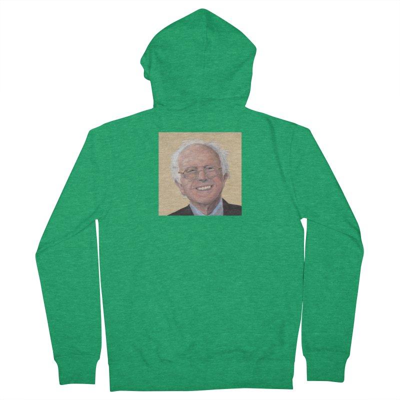 Bernie Sanders Men's Zip-Up Hoody by mybadart's Artist Shop