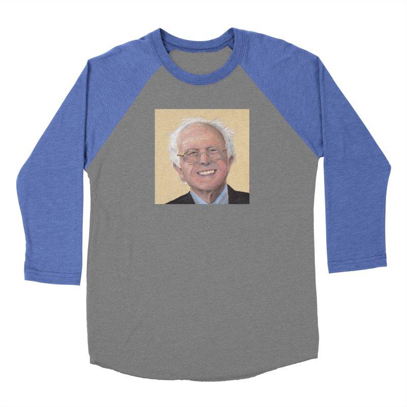 Bernie Sanders Women's Baseball Triblend Longsleeve T-Shirt by mybadart's Artist Shop
