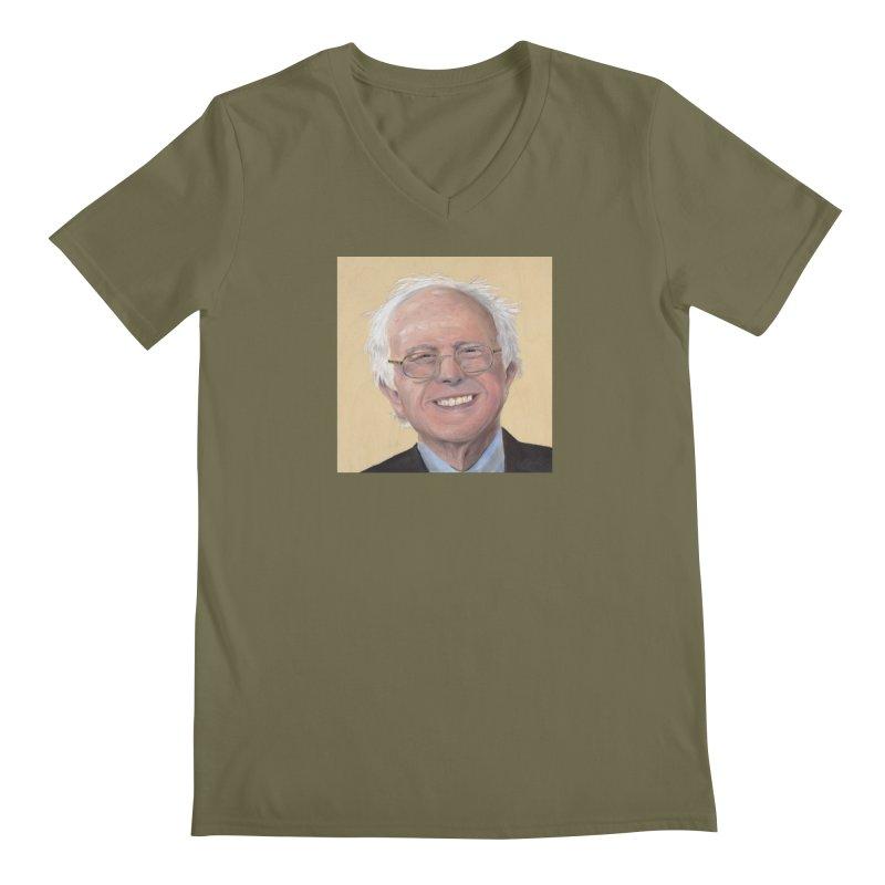 Bernie Sanders Men's Regular V-Neck by mybadart's Artist Shop